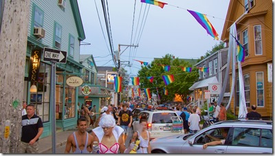 people in the streets of provincetown